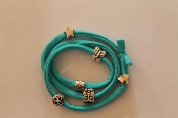 Modiarmband, kleur turquoise
