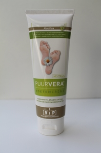 Puur Vera voetencrème neutraal, tube 100 ml