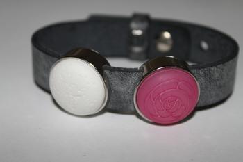 Cuoio armband antraciet zwart