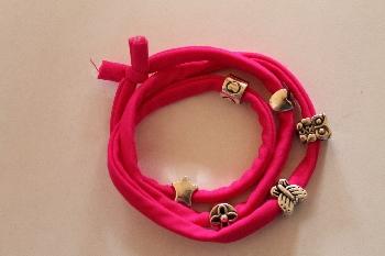 Modiarmband, kleur roze